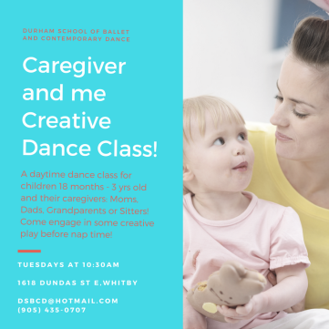 Caregiver and me Creative Dance Class!