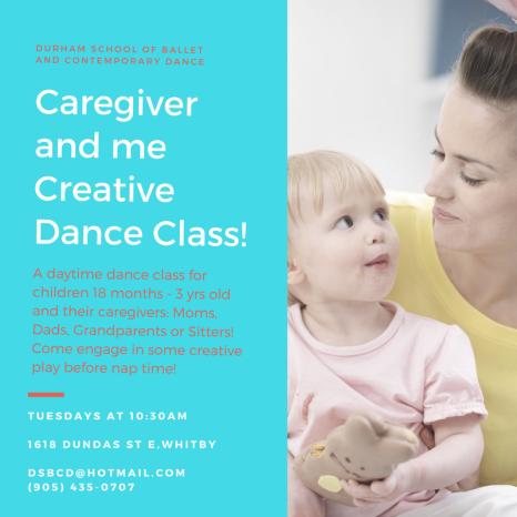 Caregiver and me Creative Dance Class!